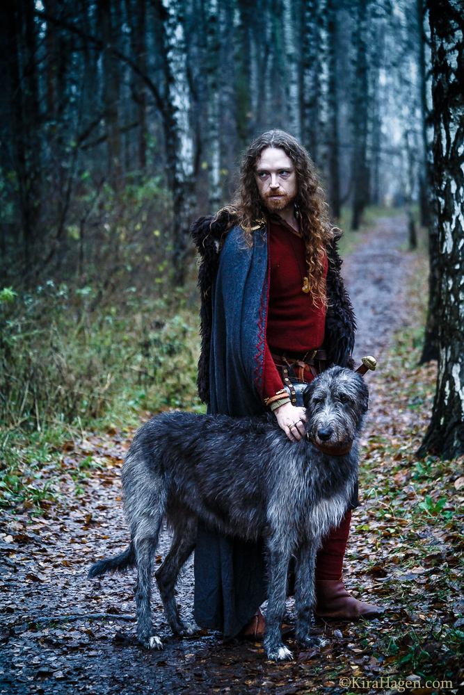 Viking And Wolfhounds A Hiberno Norse Themed Photoshoot