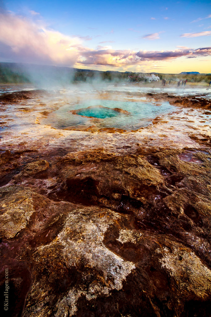 Iceland's most famous geysers, Stokkur and Geysir, are in Geysir National Park.