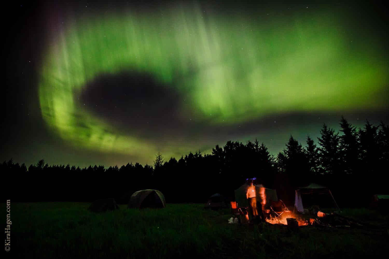 Aurora borealis over Barnum, Minnesota, July 14th 2012.
